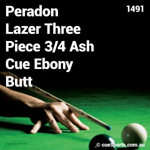 Peradon Lazer Three Piece 3 4 Ash Cue Ebony Butt
