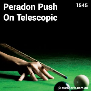 Peradon Push On Telescopic 2335extension Black To Fit Any Cue