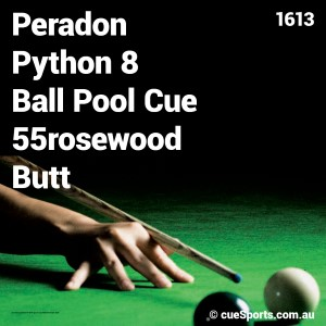 Peradon Python 8 Ball Pool Cue 55rosewood Butt
