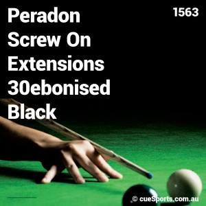 Peradon Screw On Extensions 30ebonised Black