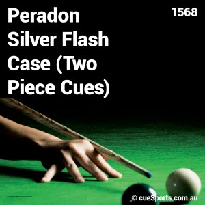 Peradon Silver Flash Case Two Piece Cues