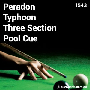 Peradon Typhoon Three Section Pool Cue