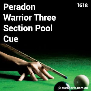 Peradon Warrior Three Section Pool Cue