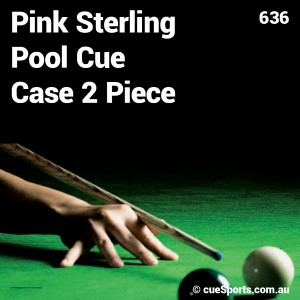 Pink Sterling Pool Cue Case 2 Piece