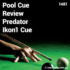Pool Cue Review Predator Ikon1 Cue
