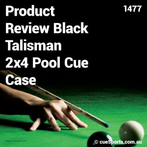 Product Review Black Talisman 2x4 Pool Cue Case