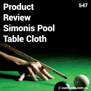 Product Review Simonis Pool Table Cloth