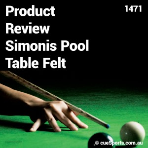 Product Review Simonis Pool Table Felt
