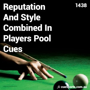 Reputation And Style Combined In Players Pool Cues