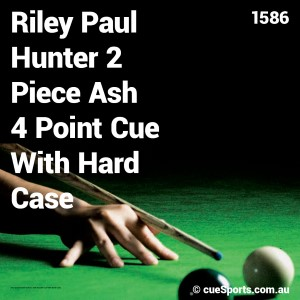 Riley Paul Hunter 2 Piece Ash 4 Point Cue With Hard Case