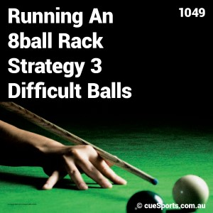Running An 8ball Rack Strategy 3 Difficult Balls