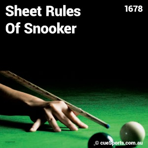 Sheet Rules Of Snooker