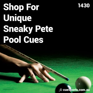 Shop For Unique Sneaky Pete Pool Cues