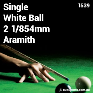 Single White Ball 2 1 854mm Aramith