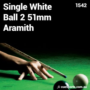 Single White Ball 2 51mm Aramith