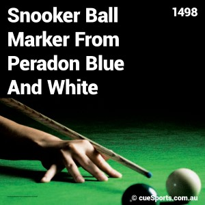 Snooker Ball Marker From Peradon Blue And White