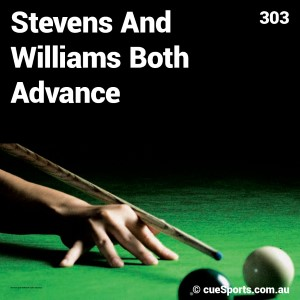 Stevens And Williams Both Advance