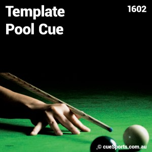 Template Pool Cue