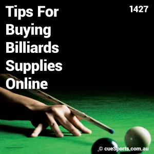 Tips For Buying Billiards Supplies Online