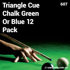Triangle Cue Chalk Green Or Blue 12 Pack