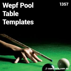 Wepf Pool Table Templates
