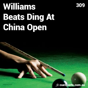 Williams Beats Ding At China Open