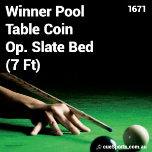 Winner Pool Table Coin Op Slate Bed 7 Ft