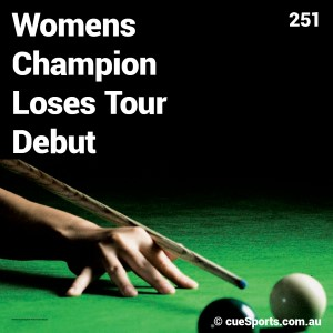 Womens Champion Loses Tour Debut