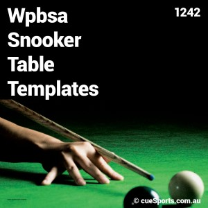 Wpbsa Snooker Table Templates